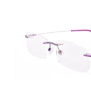 Agstum Titanium Flexible eyeglasses Purple
