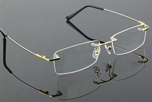 Gold Rimless Eyeglasses - Agstum