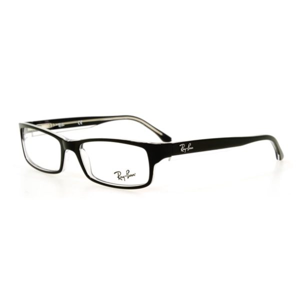 Ray Ban RX5114 Black Top on Transparent